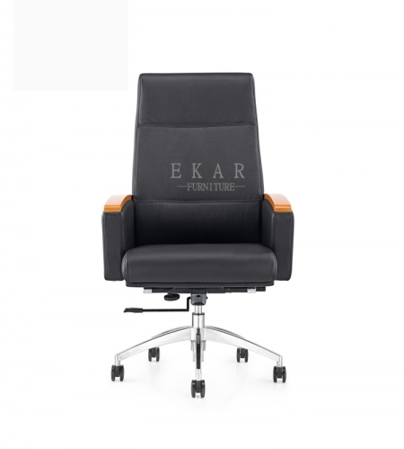 Heated Fancy Black Manager Office Chair Foshan