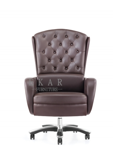 Chesterfield Style Reclining Electric Adjustable Office Chair