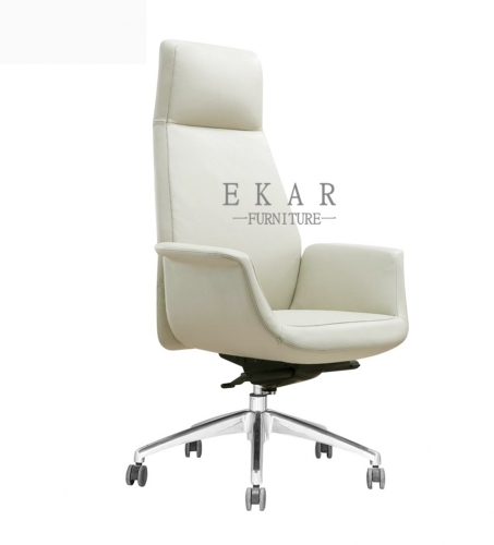 Fancy President Lifting Off-white Office Swivel Chair
