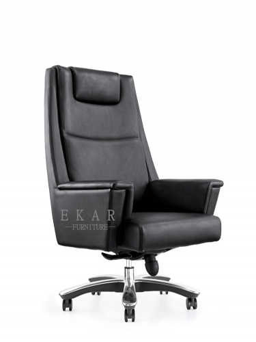 Black Recliner Metal Frame High Back Office Chair