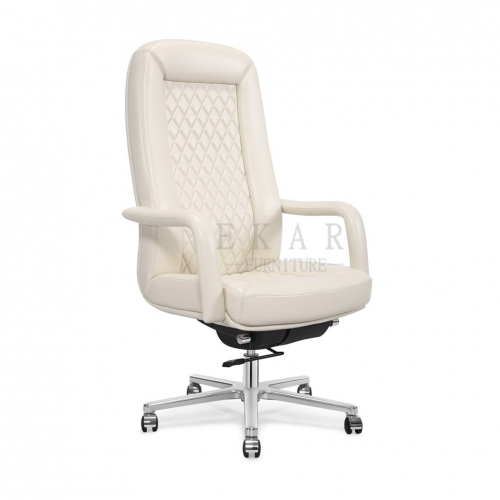 Italian Style Cream Color Chesterfield Office Chair