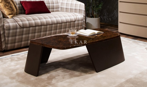 Rectangular Modern Dark Color Coffee Table