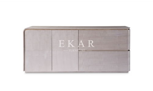 Modern Grey Wooden Cabinet Dining Room Sideboard