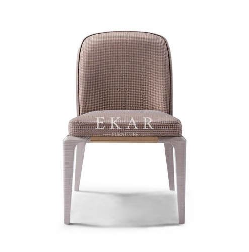 Fabric Contemporary Luxury Furniture Dining Chair Without Arm