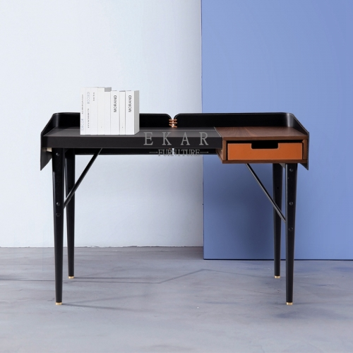 Contemporary Metal Frame Simple Home Furniture Study Desk