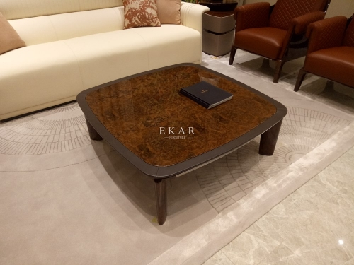 Living Room Square Italian High Gloss Modern Coffee Table