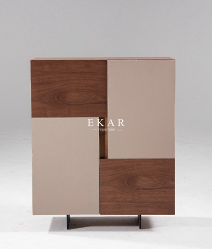 2 Doors Dining Room Metal Frame Modern Sideboard
