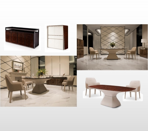 Modern Classic Deluxe Dining Room Furniture Set