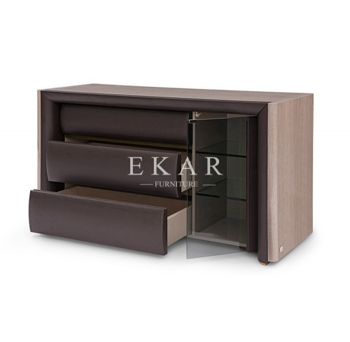 High End Leather Modern Luxury Drawer Chest