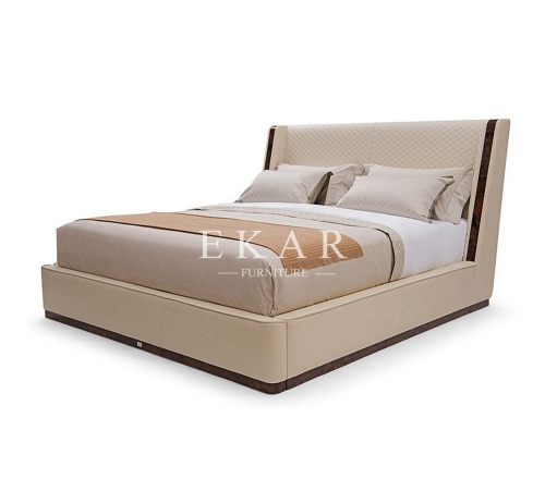 Leather King Size Deluxe Design Bed