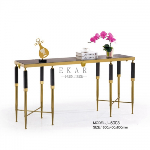 Fashion Marble Top High End Gold Console Table