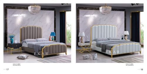 Bedroom Furniture Set Queen King Size Upholstered Leather Bed